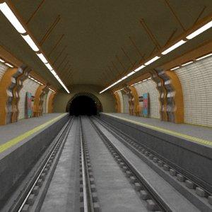 metro station 3D model