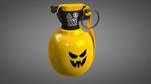 3D model customizable grenade