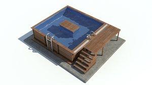 3D model gardens designed pool