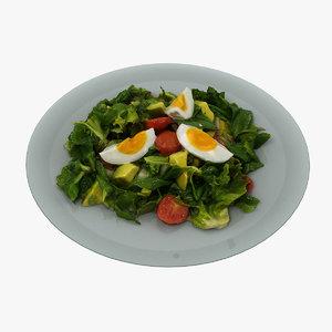 3D salad realistic