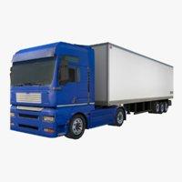 3D truck trailer model