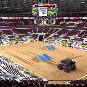 3D model monster arena