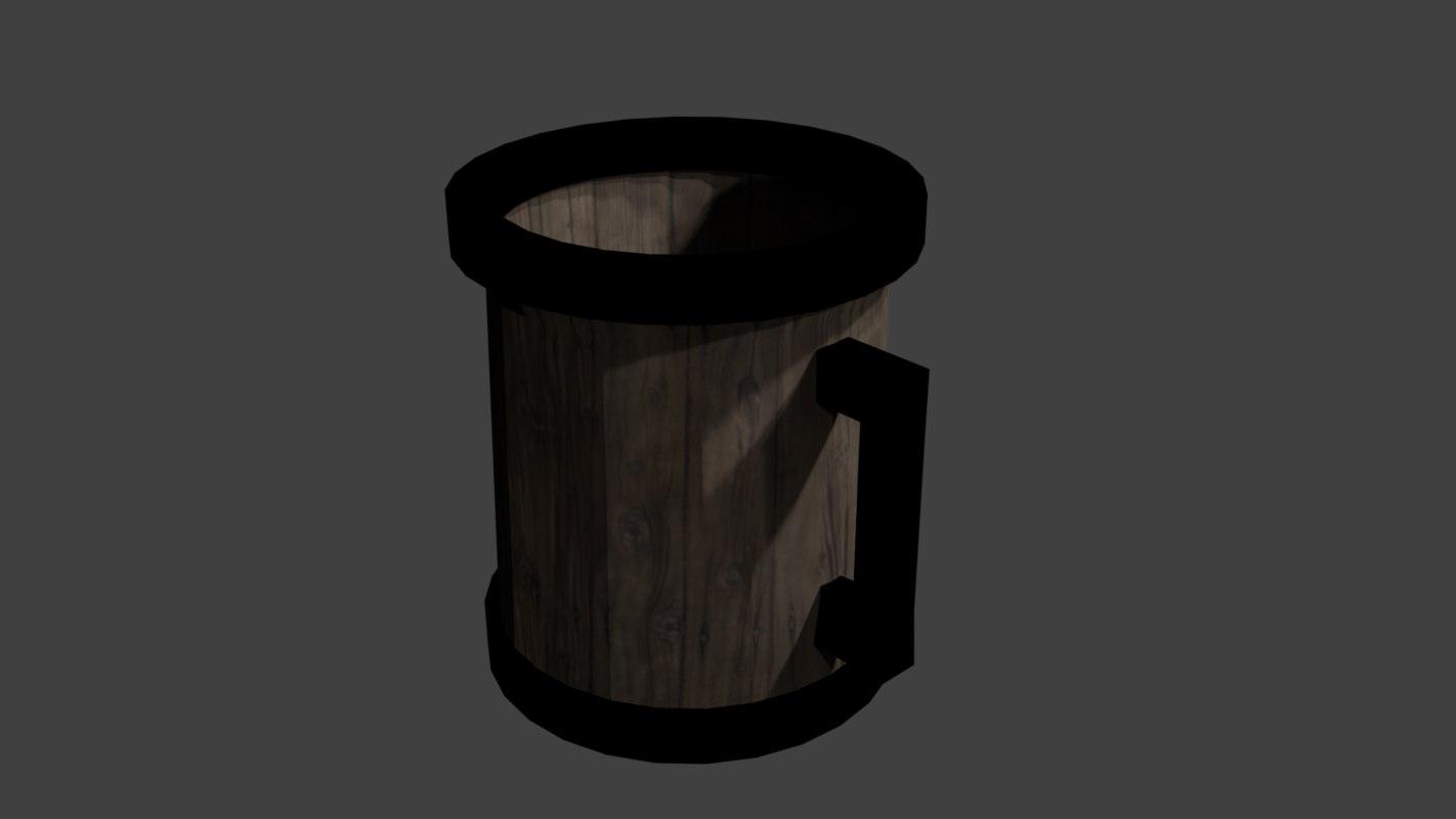 3D bear mug model