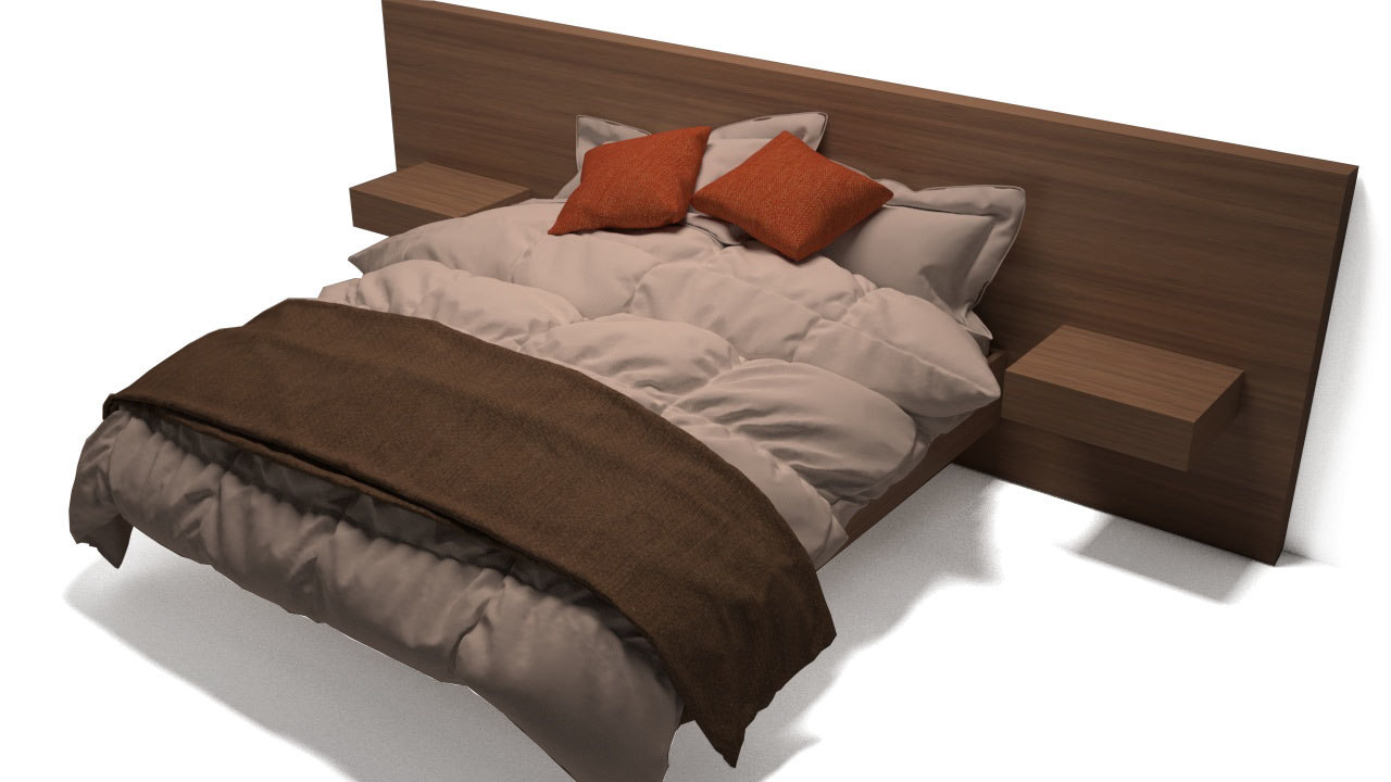 3D photorealistic bed model
