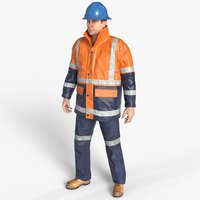 Workman Mining Safety Glen Hi Vis Jacket