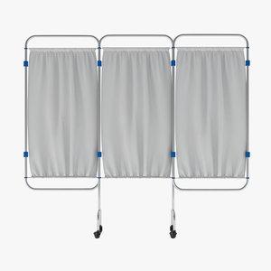 screen hospital privacy 3D model