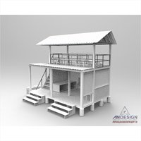 3D autumn shelter wooden