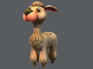 3D alpaca v01 cartoon animal model