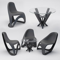 modern design table chairs model