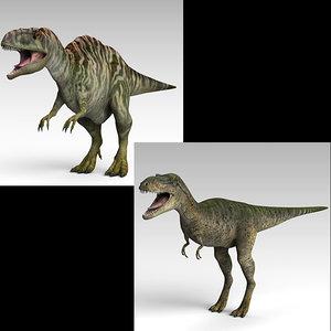 3D model albertosaurus acrocanthosaurus