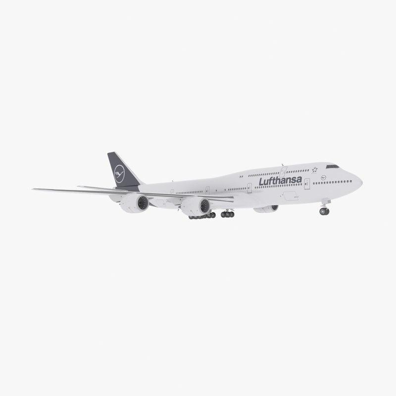 boeing 747-8 intercontinental 3d 3ds