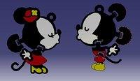 mickey mouse key model