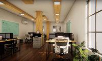 3D office room scene model