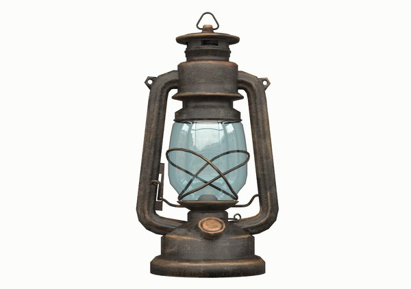 3D old gas lamp