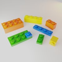 lego brick original 3D model