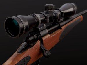 remington rifle 3D model
