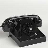 3D vintage telephone
