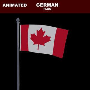 animation flag 3D model