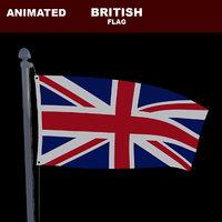 3D model animation flag