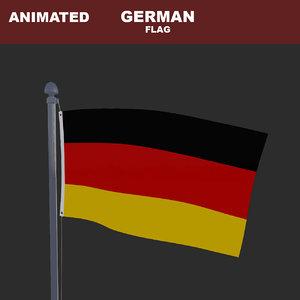 3D animation flag model