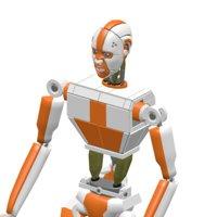 3D cyborg robot