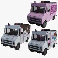 ice cream truck x3 3D model