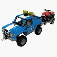 3D lego offroad car model