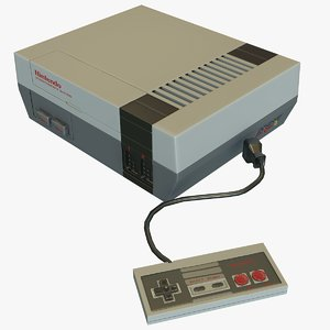 3D model nintendo nes entertainment