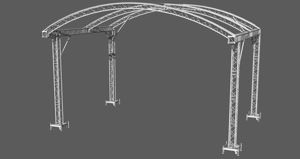3D prolyte arc roof trusses model