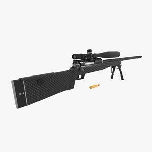 lobaeva sniper rifle svlk-14 3D