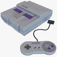 Nintendo SNES Classic Low Poly