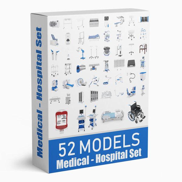 3D medical - hospital 52