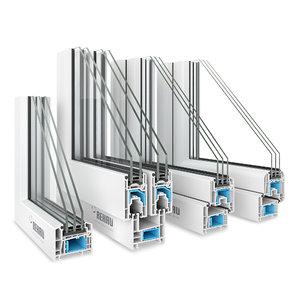 4 window profiles rehau 3D model