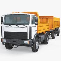 dump truck trailer 3D model