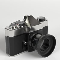 vintage reflex camera 3D model
