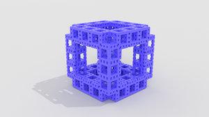 3D model cube fractal