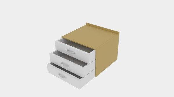 3D model world cabinet