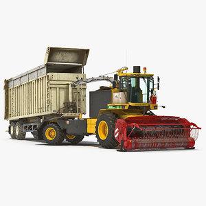 cmc saturne 5800 harvester 3D model