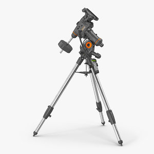 3D celestron cgem equatorial mount model