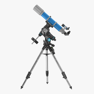refractor telescope mount tripod 3D model