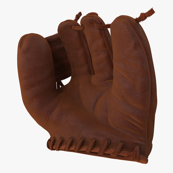shoeless joe vintage baseball glove 3D model