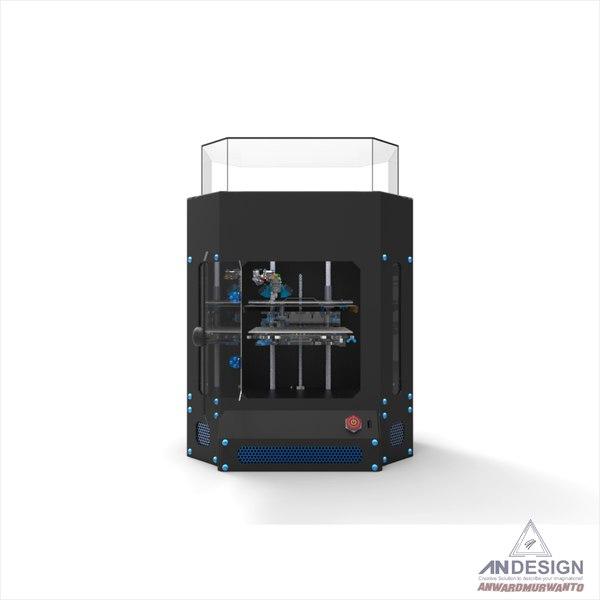 printer modelled 3D