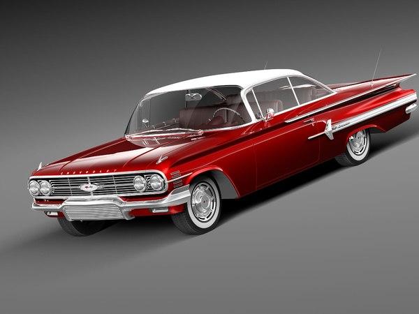 3d 3ds chevrolet impala 1960 coupe