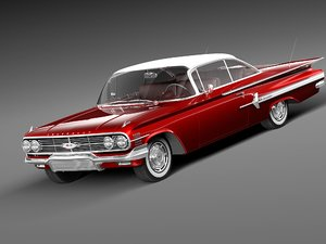 3d 3ds chevrolet impala 1960 coupe