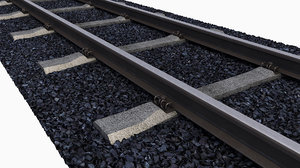 3D rails sleepers gravel