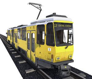 3D tram berlin rails