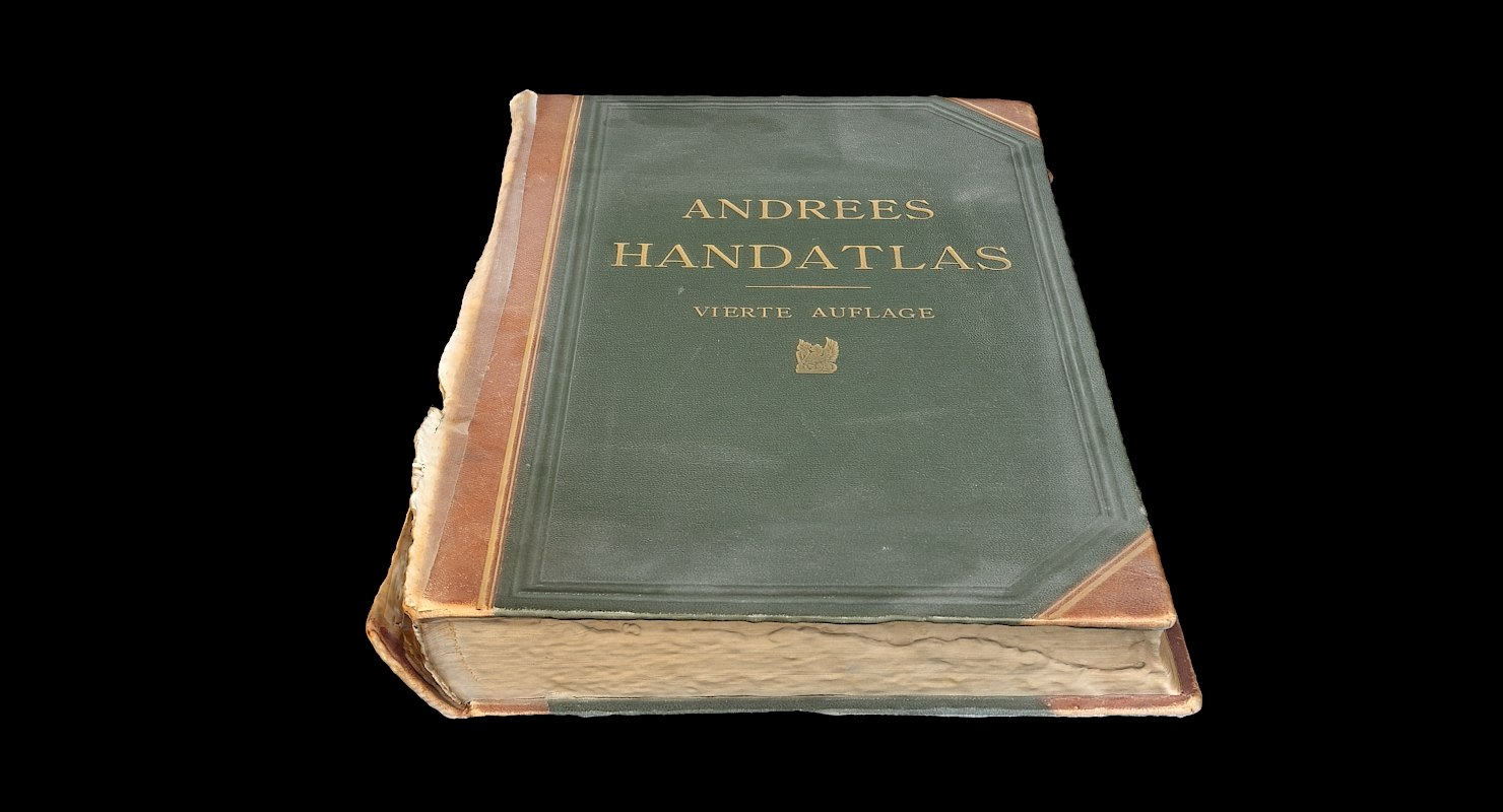 3D model old atlas book