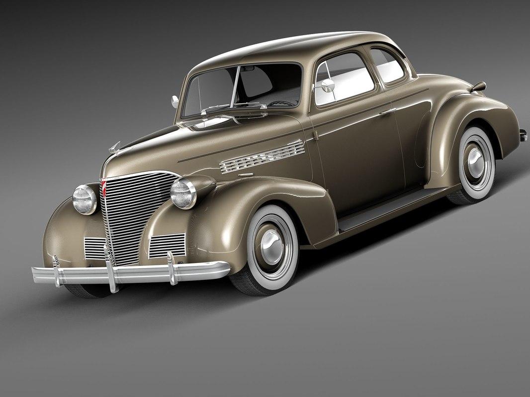 chevrolet 1939 coupe antique 3d model