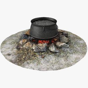 boiling pot campfire model