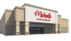 exterior retail michael arts crafts 3D model